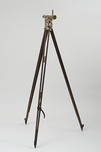 Antique Brass Theodolite On Tripod Stand English C 1900