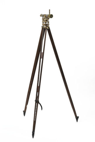 Brass Theodolite on Tripod Stand, English circa 1900