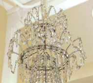 "Double crown, ""bag and tent"" cut crystal chandelier, French circa 1810"