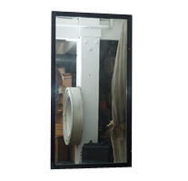 Garden Court Antiques Black Fluted Mirror