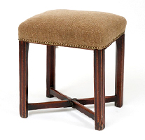 Garden Court Antiques Early George III Mahogany Stool