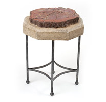 Garden Court Antiques Petrified Wood Side Table