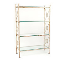 Garden Court Antiques White Iron Shelf