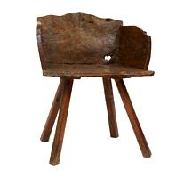 Garden Court Antiques Primitive Chestnut Low Chair
