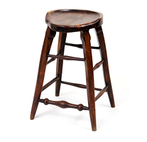 Garden Court Antiques Shaped Stool Elm