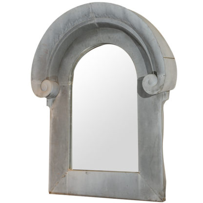 Garden Court Antiques, San Francisco Very large scale French zinc architectural element as a mirror frame, circa 1870