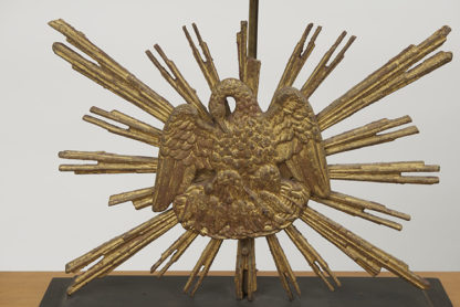 Carved Giltwood Sunburst mounted as a lamp