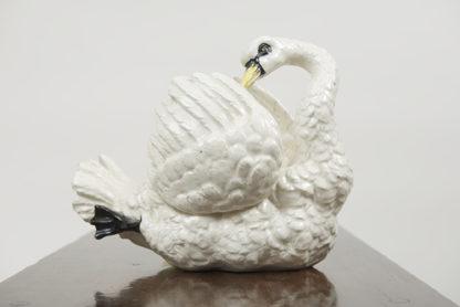 White pottery swan circa 1870