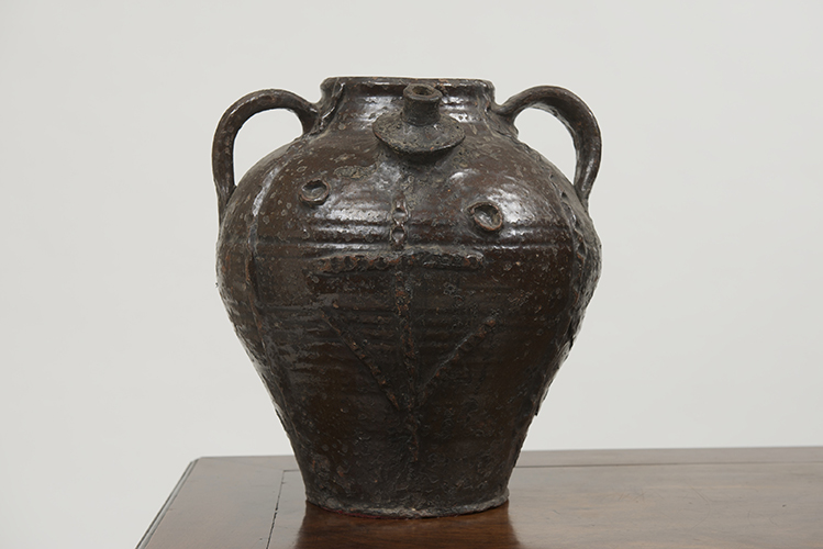 19th Century Water Jug W 3 Handles And A Spout Garden