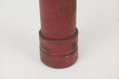 Garden Court Antiques, San Francisco Red leather and cork English naval Artillery bucket, circa 1880.