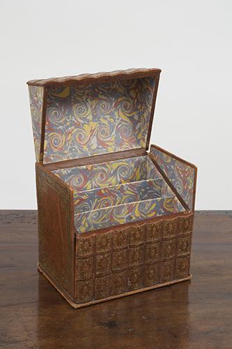 A Discreet English Stationary Box Concealed as a Set Seven Books, circa 1900