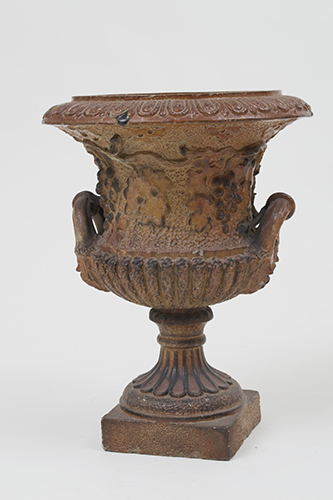 Garden Court Antiques Beautiful Salt Glazed Urn with Grape Relief, mid-19th Century