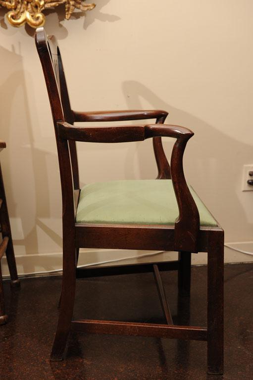 Georgian Mahogany Armchair With Drop Seat Garden Court