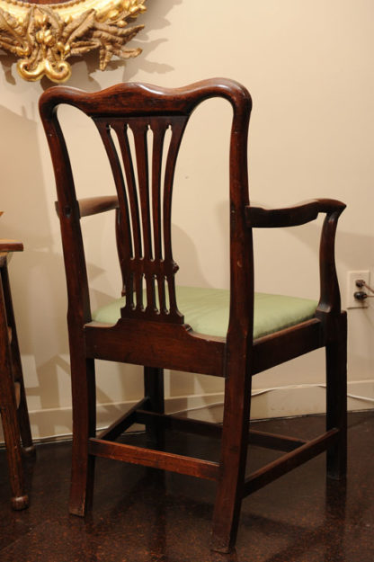 Georgian Mahogany Armchair with drop seat, English circa 1780