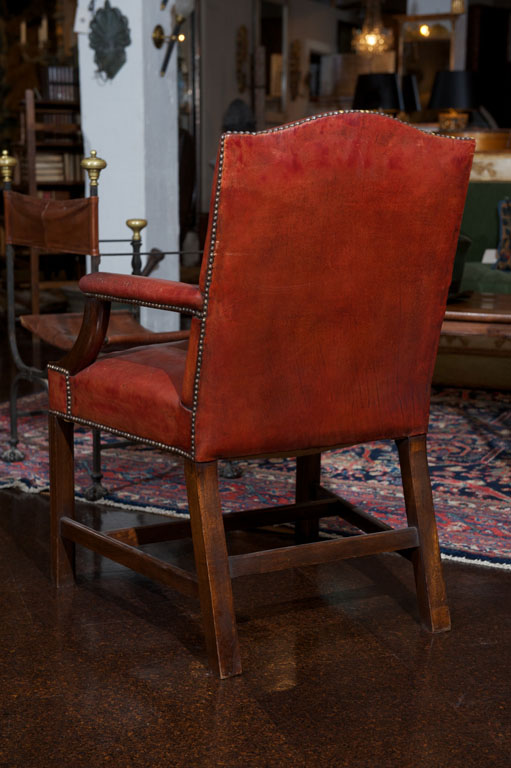 Georgian Style Mahogany Armchair Garden Court Antiques