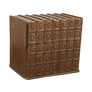 A Discreet English Stationary Box Concealed as a Set Seven Books, circa 1900
