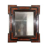 Dutch Baroque Period Walnut and Ebonized Mirror Frame