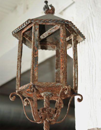 Garden Court Antiques, San Francisco Large Scale Pair of Wrought Iron Wall Lights, French circa 1800