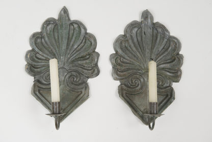 Pair of Zinc Single Arm Sconces, English circa 1820