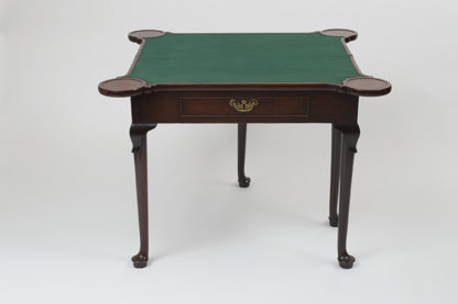 Georgian Mahogany Game Table, English circa 1780