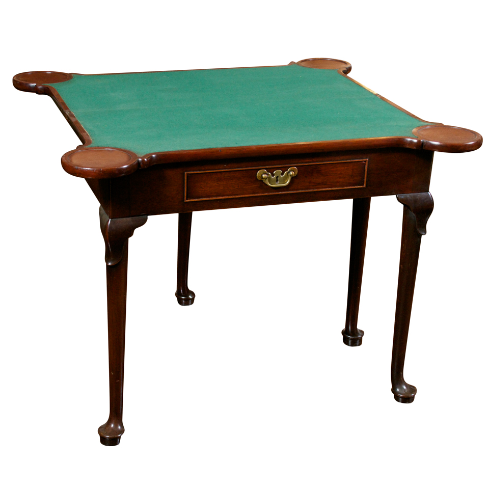 Georgian Mahogany Game Table, English Circa 1780