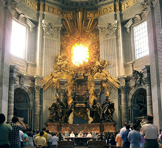 Gian Lorenzo Bernini, Cathedra Petri (or Chair of St. Peter),