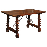 Spanish Baroque Trestle Table circa 1700