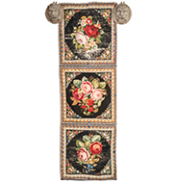 Needle point tapestry runner, English circa 1880.