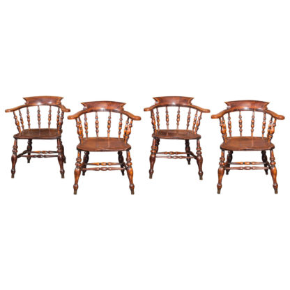Set of Twelve English Captain's Chairs, circa 1860