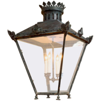 Very Large Scale Copper and Iron Lantern, circa 1870