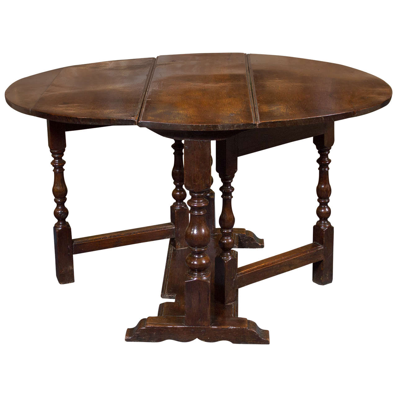 Diminutive English Oak Gateleg Table Circa 1750 Garden