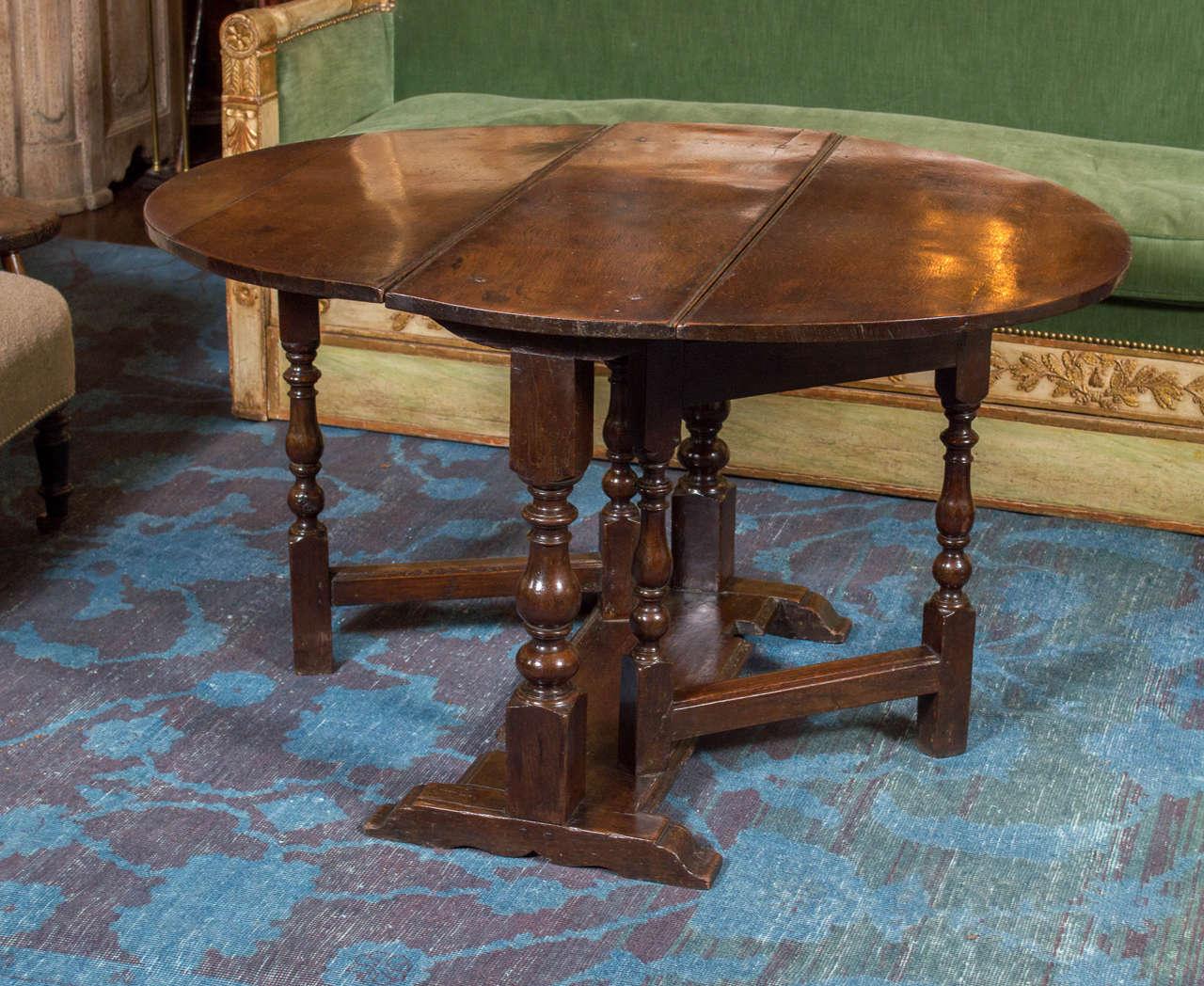 diminutive english oak gateleg table circa