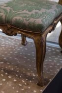 Pair of carved Venetian Giltwood side chairs