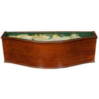 Mahogany Floor Planter with Inlay Banding