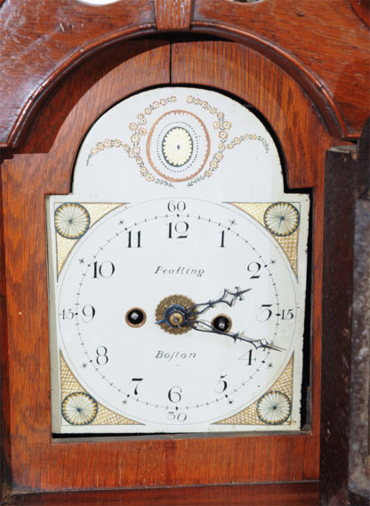 "Miniature Mahogany Long Case Clock marked ""Peatling"""