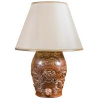 Royal Doulton Spirit Barrel made into lamp. English, Circa 1880