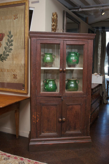 Tall narrow painted cabinet, English circa 1850