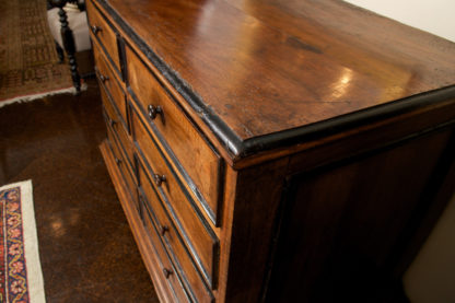 Tuscan Walnut Commode with Ebonized Detail circa 1780