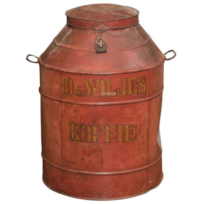Dutch Red Tole Painted Coffee Tin, Netherlands circa 1850