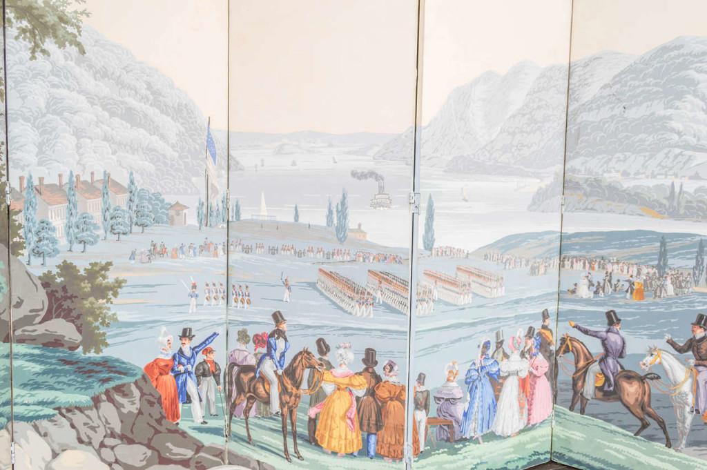 Zuber Wall Paper Panels, circa 1852, Mounted as a Screen