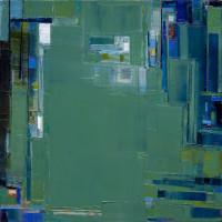"""Maya Kabat, """"Strike Fault 4"""" 30 x 30 in., 2008"""
