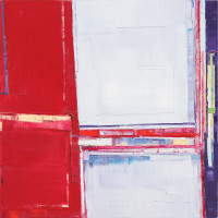 "Maya Kabat, ""Urban Field 13"", oil-on-canvas, 36 x 36 in., 2015"