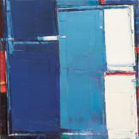 "Maya Kabat - ""Urban Field 18"", oil-on-canvas, 24 x 24 in."