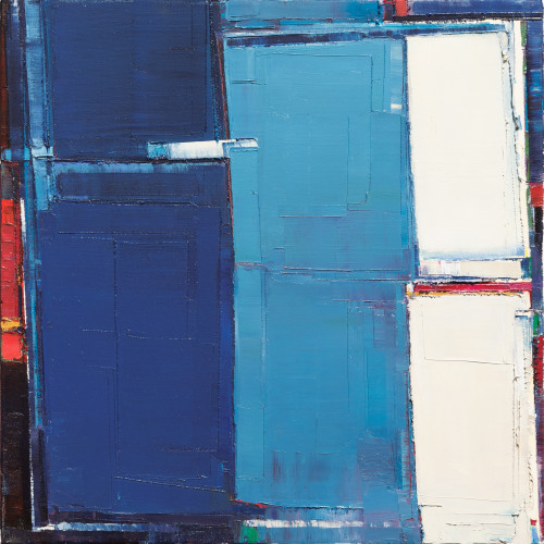 "Maya Kabat - ""Urban Field 18"", oil-on-canvas, 24 x 24 in."