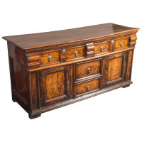 Early English Oak Dresser Base with exceptional patina, circa 1720