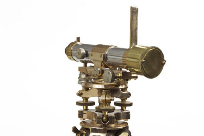 Brass Theodolite on Tripod Stand, English circa 1900