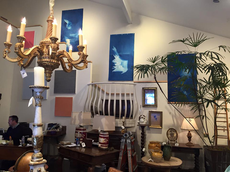 Modern Art and Beautiful Antiques at Garden Court in San Francisco: