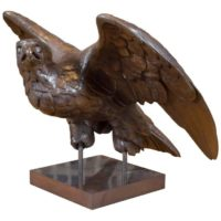 Garden Court Antiques, San Francisco - Carved Oak Eagle on later stand, German, circa 1870