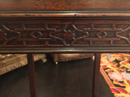 Antique Carved Mahogany Chippendale Style Side Table circa 1820 at Garden Court Antiques