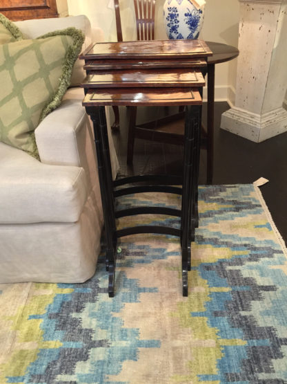 Garden Court Antiques - English Quartetto Stackable Nesting Tables, circa 1810